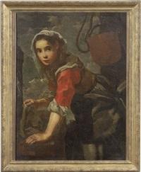 ragazza che risciacqua i panni (allegoria dell'acqua) by bernhard keil