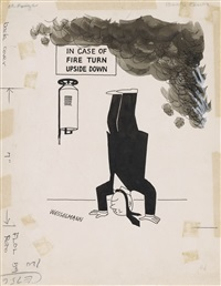 in case of fire turn upside down by tom wesselmann