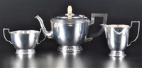 tea service (set of 3) by reid & sons