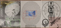 visual autobiography: x-ray, circle of words, dance (triptych) by robert rauschenberg