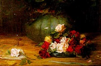 autumn roses by robert duddingstone herdman