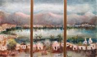 triptych: tiberias (triptych) by albert goldman