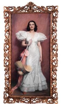 portrait einer dame by janos laszlo aldor