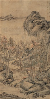 landscape by wang guxiang