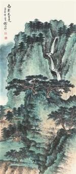 松涧飞瀑图 by xie zhiliu