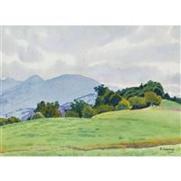landschaft mit niederhorn by plinio colombi