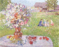 the festival table - summertime in the dacha by valerian formozov