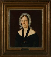 portrait of mrs. lind, b. rothenburg, dressed in black by frederik grandjean
