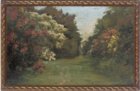 in the rhododendron alley at tyninghame, haddington, scotland by robert payton reid