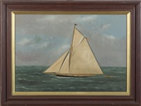 racing yacht by thomas h. willis