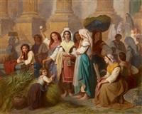 italienische marktszene by théodore valerio