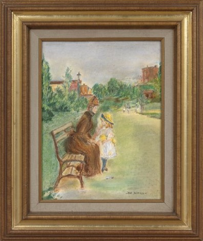 woman and child in a park by jane peterson
