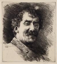 portrait of whistler no.9 by mortimer luddington menpes