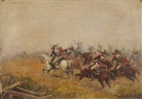 the cavalry charge by paul emile léon perboyre