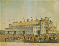 the coliseum boston mass by (lithographers) haskell & allen