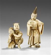 okimono (pair) by toshimune