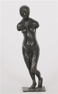 stehender weiblicher akt ohne arme by joachim dunkel