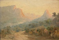 view of mountains and a valley by edward clark churchill mace