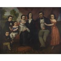 portrait of john davis jones and family of philadelphia, pennsylvania by william e. winner