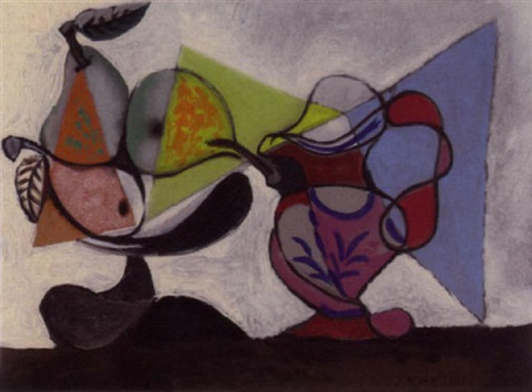 Nature morte aux poires et au pichet by Pablo Picasso on artnet