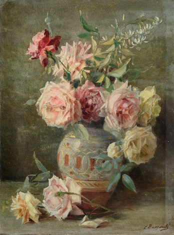 vaso con rose by licinio barzanti