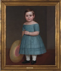 portrait of frances simmons as a young girl by samuel lancaster gerry