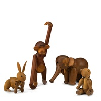 elephant, bear, rabit and monkey (4 works) by kay bojesen