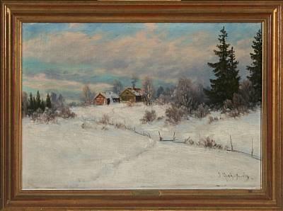 winter landscape by ernst aschenbach