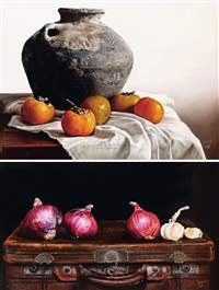 gallipot (+ onion; 2 works) by liu qun