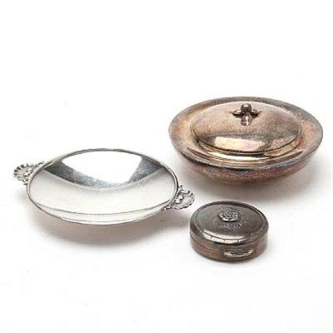 bonboniere small dish and pill box 3 works by georg jensen co
