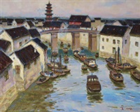 京杭大运河 (the beijing-hangzhou canal) by xu junxuan