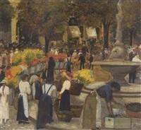blumenmarkt in zürich by hans pezzey