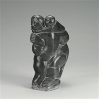 mother and child holding seal by levi alasua smith pirti
