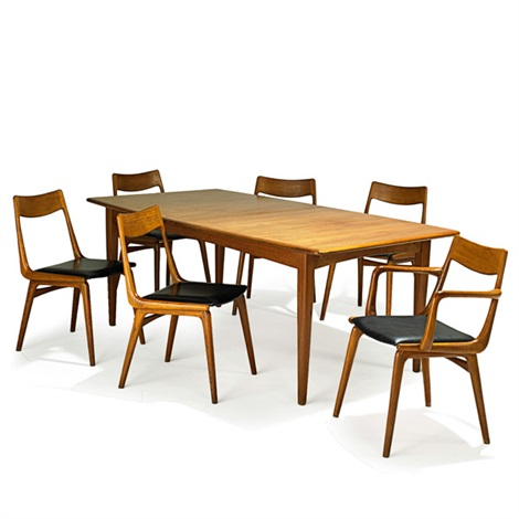 Extension Dining Table And Boomerang Chairs (7 Works) By Erik Christensen