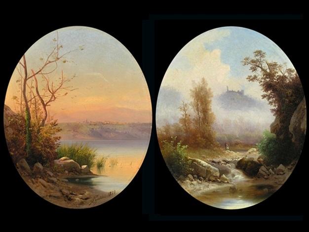 roma lago di memi san miniato al tedisco pair by guido agostini