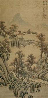 策杖访友图 by qian weicheng