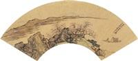 anchorite in peach brook by liu du