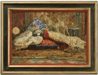 orientalist interior scene by cesare biseo
