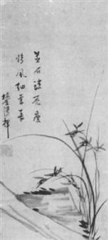 orchideen an einem felsen by tokoti baigai