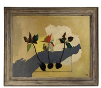 abstract of three flowering bulbs by jean lurçat