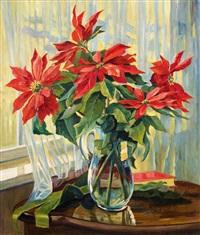 weihnachtsstern in glaskrug by anna gasteiger