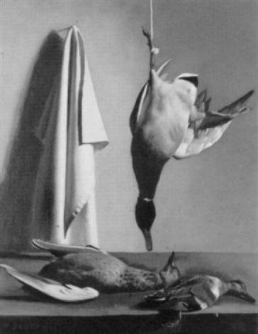 stilleben mit geflügel by pierre jouffroy