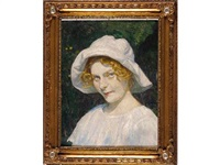joven con sombrero blanco by alfono grosso