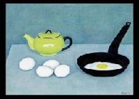 fry pan and egg by rinjiro hasegawa