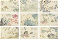 flowers and birds (album of 10 works) by liu deliu