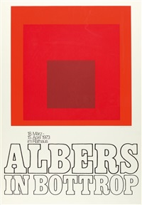 plakat: albers in bottrop by josef albers