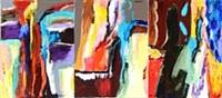 saturnalia ufornuftens fest (triptych) by rolf gjedsted