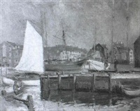a harbour scene by mary loomis wilson