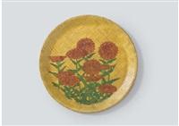 dahlia (plate) by kiyoshi yamashita