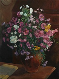 chrysanthemums by alfred richard blundell